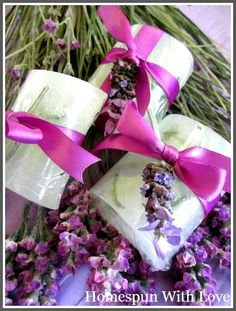 Homespun With Love: Homemade Lavender Soap for Mothers Day Gift Giving...