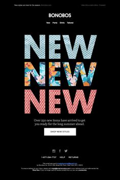 bonobos black type hero Banner Design, Layout Design, Web Design, Graphic Design, Email Newsletter Design, Email Design, Arrival Poster, Teaser Campaign, Cosmetic Design