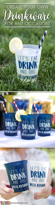 Create your own custom #drinkware for any occasion! Our variety of cup styles and sizes can all be custom printed with your logo, message or event information!