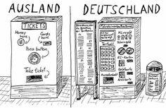 Deutschland vs. Ausland am Beispiel des Ticket-Automaten