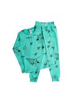 G. NANCY Organic LS Bug Shirt & Pants / Teal