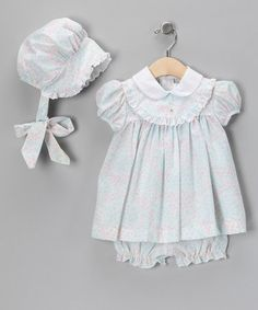 $15.99 I SHOULD HAVE GOTTEN THIS! Blue & Pink Floral Dress Set - Infant by C.I. Castro & Jayne Copeland on #zulily today!
