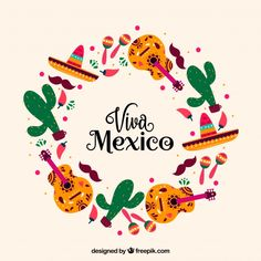Circular viva mexico lettering background Vetor grátisYou can find Viva mexico and more on our website. Mexican Menu, Mexican Art, Mexican Style, Mexico Wallpaper, Mexico Party, Mexico Culture, Quote Backgrounds, Instagram Highlight Icons, Mexico Travel
