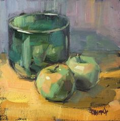 Reflections of Green, painting by artist Cathleen Rehfeld