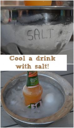 Use with Apologia Physics and Chemistry. Great experiment: How to cool a drink with salt!
