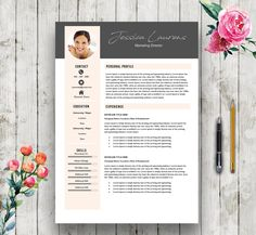 Modern Elegant Template | Resume Template for Word + Cover Letter + References | Modern CV Template | Professional CV Instant Download by RedFoxResumes on Etsy