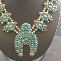 Zuni squash blossom necklace