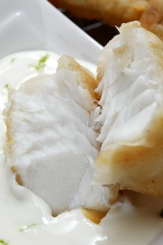 Broiled Tilapia with Mustard-Chive Sauce #Recipe