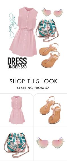 """""""Preppy!!!"""" by yviestyle ❤ liked on Polyvore featuring women's clothing, women, female, woman, misses, juniors and Dressunder50"""