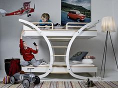 Cool bunk bed, fresh, airplane