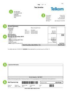 Understanding Your Bill - Telkom Web Site