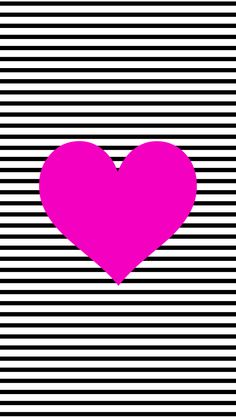 Black and White Stripe Heart | 35 Adorable iPhone Wallpapers to Liven Up Your Life | POPSUGAR Tech