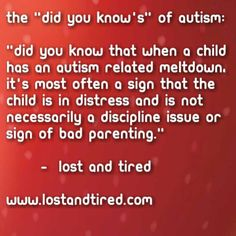 """Did you know's"" of Autism ((true for any sensory sensitive kiddos))"