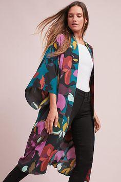 Slide View: 1: Kira Long Kimono Jacket