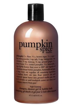 philosophy 'pumpkin spice muffin' shower gel