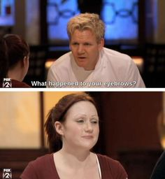 Gordon Ramsay Says What Everyone Is Thinking. Laugh your self out with various memes that we collected around the internet. Gordon Ramsay Funny, Chef Gordon Ramsay, Gorden Ramsey, Lamb Sauce, Humor, Laughing So Hard, I Laughed, Eyebrows, Laughter
