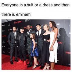 Eminem don't give a sh*t Eminem Funny, Eminem Memes, Eminem Rap, Eminem Quotes, Eminem Albums, Rapper Quotes, Bob Marley, Bruce Lee, Hilarious Pictures