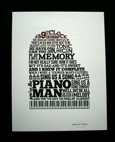Piano Man ~ Billy Joel <3
