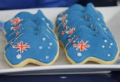 Get creative in the kitchen with Australia Day Cookies Biscuit Cookies, Cute Cookies, Sugar Cookies, Australian Cookies, Australian Party, Australia Day Celebrations, Aus Day, Happy Australia Day, Garden Parties