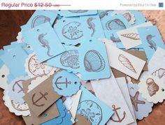 Sale 100 Nautical Shell Beach Starfish Tags by LazyDayCottage