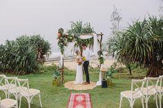 Coastal wedding perfect for the bohemian Bride | Caloundra Beachside Wedding | Sunshine Coast Wedding | What we dream about!