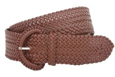 2 Inch Wide Hand Made Soft Metallic Woven Braided Round Belt Color: Brown Size: S/M - 37 END-TO-END Made by #beltiscool Color #Brown. 100% man made braids detailing. Non leather. Two inches wide, flexible sizing. Stylish