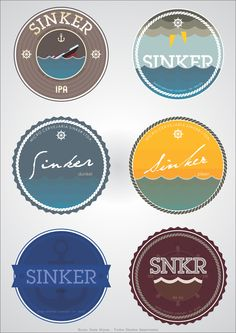 Sinker Brewery Co. Beer Label
