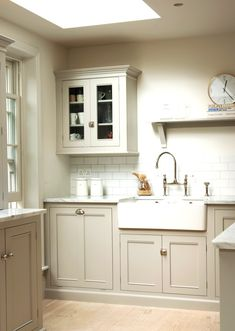 The Classic English Kitchen by deVOL Like the color, cabinets, tile, grout, cabinet hardware