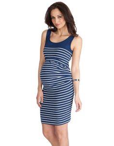 Shower dress:  Nautical Stripe Bodycon Maternity Dress | Seraphine Maternity