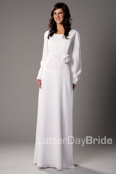Modest Wedding Dress, Cardston   LatterDayBride & Prom -Modest Mormon LDS Temple Dress