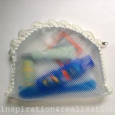 inspiration and realisation: DIY fashion blog: DIY clear cosmetics clutch