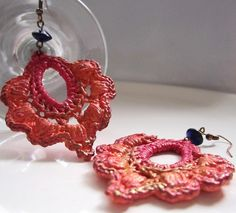 Good Ideas For You | Hardened Crochet Earrings.