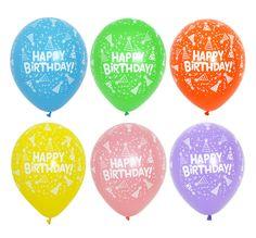 50X Assorted Star Latex Balloons Pastel Rainbow Happy Birthday Party Supplies #Joyparty #BirthdayChild