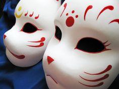 Kitsune mask 1 by Mishutka on DeviantArt Anime Mascaras, Kitsune Maske, Japanese Fox Mask, Mascaras Halloween, Mask Tattoo, Cool Masks, Cosplay Diy, Beautiful Mask, Oriental Pattern