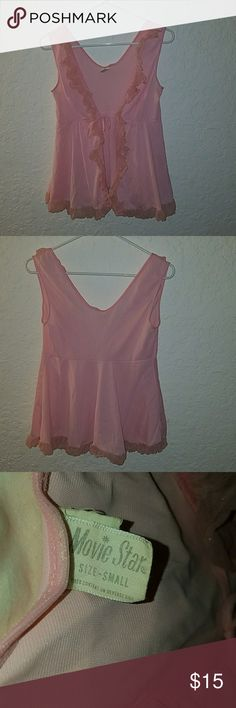 Sexy lingerie top Light pink no rips or tears. Never worn like new. Cleaning out closet. movie star Intimates & Sleepwear Chemises & Slips