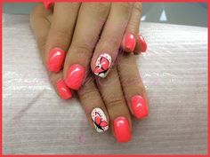 nail art - corallo