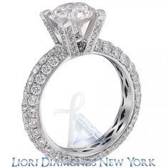 6.03 Carat F-SI3 Round Diamond Engagement Eternity Ring 14K White Gold - Liori Exclusive Engagement Rings - Engagement - Lioridiamonds.com