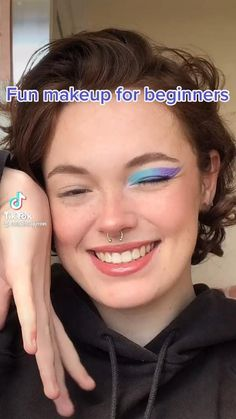 Cute Makeup Looks, Makeup Looks Tutorial, Makeup Eye Looks, Creative Makeup Looks, Pretty Makeup, Edgy Makeup, Skin Makeup, Beauty Makeup, Eye Makeup Designs