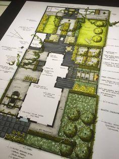 Home Garden Landscape Plans; Butterfly Garden Landscape Plans via Landscape Gardening Ideas For Small Gardens Landscape Model, Landscape Sketch, Landscape Design Plans, Garden Design Plans, Landscape Drawings, Landscaping Design, Garden Landscaping, Landscaping Software, Watercolor Landscape