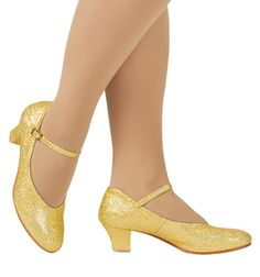 NEW Theatricals Girls Gold Sequin Character Dance Shoes Pageant Sz 3 Cute Shoes, Me Too Shoes, Ballroom Dance Shoes, Jazz Shoes, Dance Tights, Ballet, Costume, Silver Shoes, Vintage Shoes