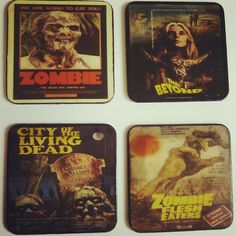 Lucio Fulci Fans Eat you Heart out. Coaster Set Now available! Eat Your Heart Out, Drink Coasters, New Image, Coaster Set, My Images, You Got This, Horror, At Least, Fans
