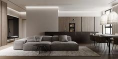 Minimalist Interior, Interior Modern, My Home Design, House Design, Interior Design Living Room, Living Room Designs, House Layouts, Decoration, Home Decor