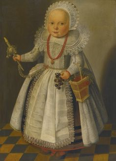 1630 Dutch School, - PORTRAIT OF A CHILD AT THE AGE OF ONE AND A HALF