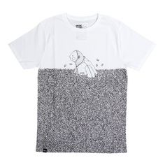 David Galletly Shuff Shuff T-shirt in White | Tshirt Store Online - Tshirt Store Online