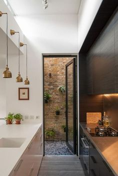 Exciting Small Modern Kitchen Design Ideas - Page 2 of 2 Small Modern Kitchens, Modern Kitchen Island, Small Space Kitchen, Modern Kitchen Cabinets, Cool Kitchens, Smart Kitchen, Small Spaces, Ikea Kitchen Design, Modern Kitchen Design