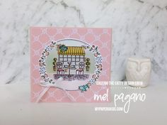 Stampin' Up! Charming Cafe Diorama Card by Mel Pagano at My Paper Oasis Fancy Fold Cards, Folded Cards, Paris Cards, Valentine Day Cards, Valentines, Making Greeting Cards, Stamping Up, Stampin Up Cards, Making Ideas
