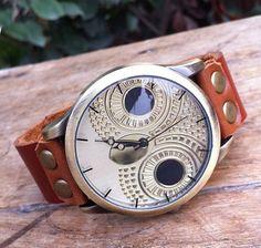 Watch.Owl reloj.Reloj de pulsera de cuero.Cuidado por hongjewelry