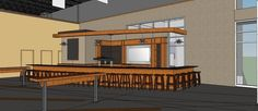 The bar at #ArcadiaWest will be constructed of reclaimed wood