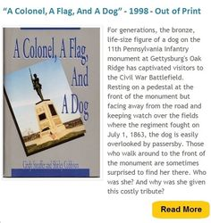 An engaging history of a Civil War regiment and its loyal canine mascot. Read more here: http://loyalty-of-dogs.blogspot.com/p/a-colonel-flag-and-dog.html