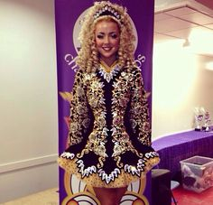 Celtic Star 2014 Irish Dance Solo Dress Costume- a little too busy for me, but it IS pretty cool. :)
